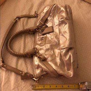 Coach Authentic Ashley tote with detachable strap.